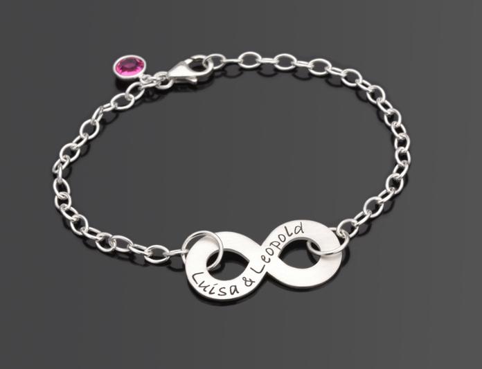 infinity 925 silber armband mit gravur silberschmuck personalisiert ebay. Black Bedroom Furniture Sets. Home Design Ideas