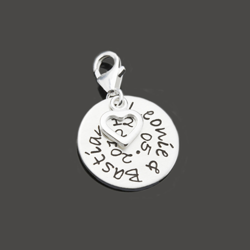 MEINE LIEBE 925 Silber Anhänger mit Wunschtext für Paare