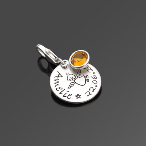SCHUTZENGELCHEN 925 Silber Charm