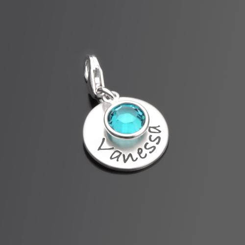 SELECT NAME COLOR 925 Silber Charm mit Namen