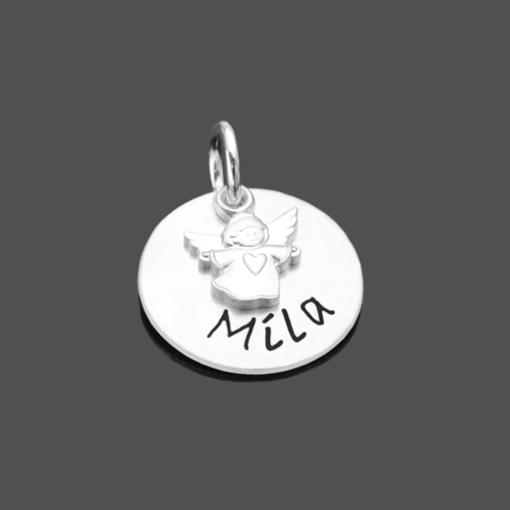 Silberanhänger ENGELCHEN 925 Silber Charm Namensanhänger Gravur