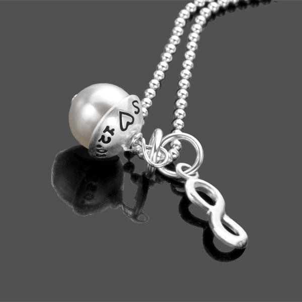 Anhänger mit Gravur UNENDLICH 925 Silberkette Liebe Partnerschmuck