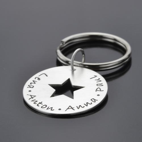 Schlüsselanhänger MY STARS 925 Silber Anhänger mit Gravur Textschmuck