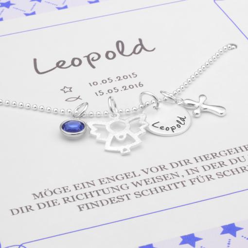 MEIN ENGEL KREUZ 925 Taufschmuck mit Geschenkbox Namensgravur