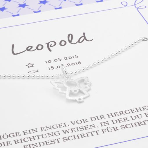 MEIN ENGEL Silber Taufschmuck in Geschenkbox mit Namen und Taufspruch